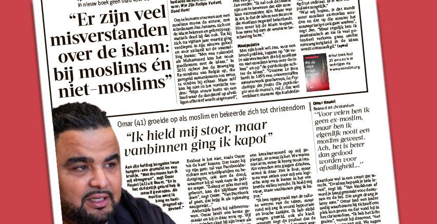 """GVA naar aanleiding van boek """"Wie zijn religie verlaat, dood hem!"""""""